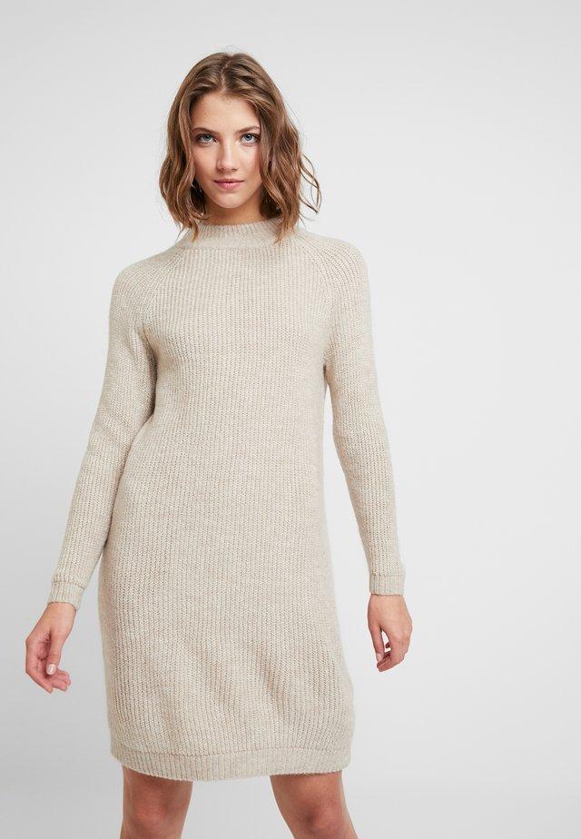 ONLJADE DRESS - Vestido de punto - whitecap gray/white melange