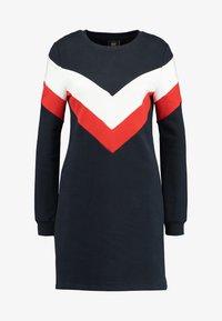 ONLY - ONLDAKOTA O NECK DRESS - Day dress - night sky/cloud dancer/fiery red - 3