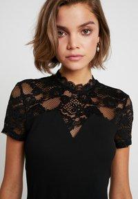 ONLY - ONLMONNA MIX DRESS - Robe en jersey - black - 4