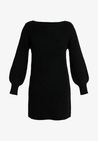 ONLY - ONLATTILANA DRESS - Pletené šaty - black - 4