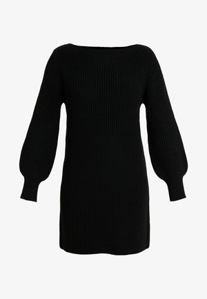 ONLATTILANA DRESS - Stickad klänning - black