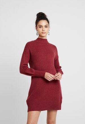 ONLNANNA DRESS - Gebreide jurk - tawny port