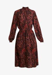 ONLY - ONLNOVA LUX SMOCK HIGHNECK DRESS - Sukienka letnia - apple butter - 6