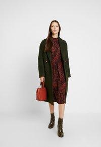 ONLY - ONLNOVA LUX SMOCK HIGHNECK DRESS - Sukienka letnia - apple butter - 2