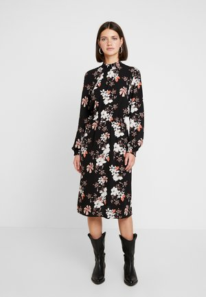 ONLNOVA LUX SMOCK HIGHNECK DRESS - Kjole - black/jalene