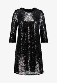 ONLY - ONLMANILLA 3/4 DRESS - Juhlamekko - dark grey/bottom black sequence - 4