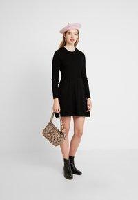 ONLY - ONLALMA O NECK DRESS - Day dress - black - 2