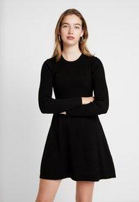 ONLY - ONLALMA O NECK DRESS - Day dress - black - 0