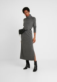 ONLY - ONLCLEAN ROLLNECK DRESS  - Maxi-jurk - medium grey melange - 1