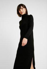 ONLY - ONLCLEAN ROLLNECK DRESS  - Maxikjole - black - 0