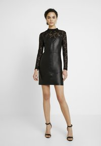ONLY - ONLNANCY MIX DRESS - Day dress - black - 2