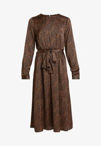 ONLY - ONLALEXA MIDI DRESS - Korte jurk - leather brown/mini graphic - 5