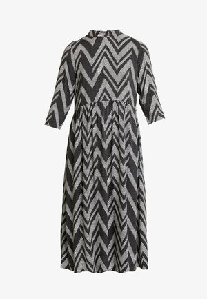 ONLMOODIE 3/4 ZIGZAG DRESS - Vestido informal - black