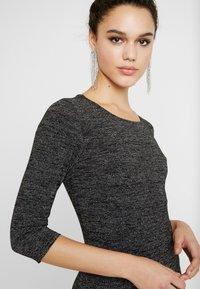 ONLY - ONLFREJA SHORT DRESS - Vestido de tubo - black/silver - 5