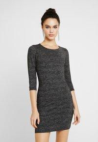 ONLY - ONLFREJA SHORT DRESS - Vestido de tubo - black/silver - 0