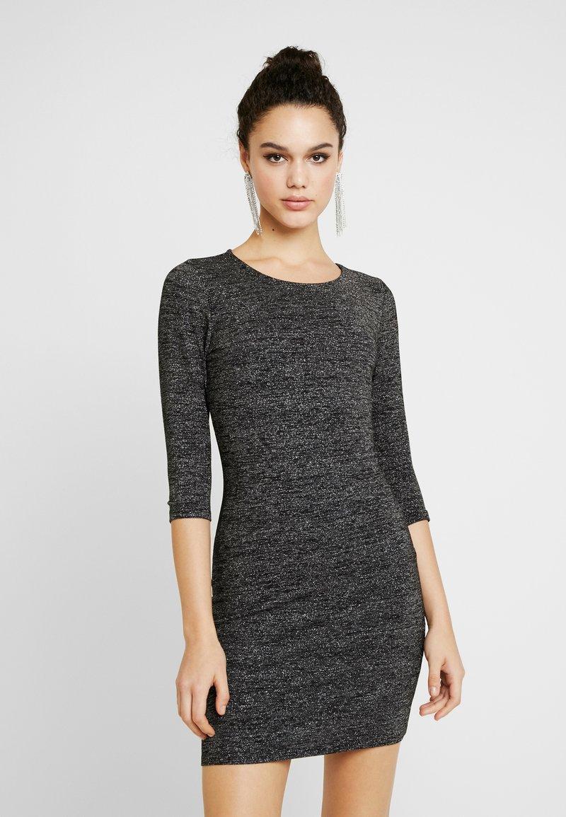 ONLY - ONLFREJA SHORT DRESS - Vestido de tubo - black/silver