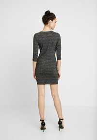 ONLY - ONLFREJA SHORT DRESS - Vestido de tubo - black/silver - 3