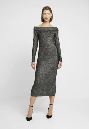 ONLETTA DRESS - Pouzdrové šaty - black/silver