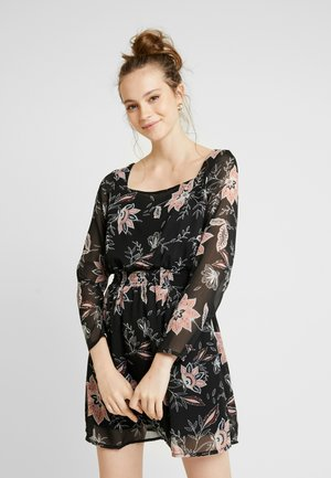 ONLFMICHELE - Robe d'été - black/life tapestry flower