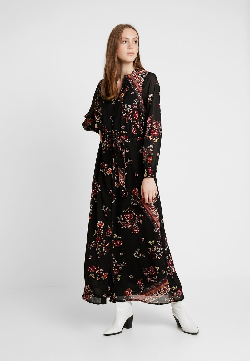 ONLY - ONLNINA ANCLE DRESS - Maxi dress - black/scarf brick dust