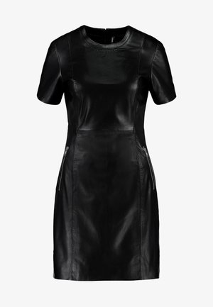 ONLLENA LEATHER DRESS OTW - Etuikleid - black