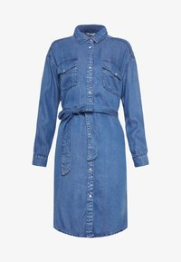 ONLY - ONLFBELISIMA KNEE DRESS - Košilové šaty - light blue denim - 4