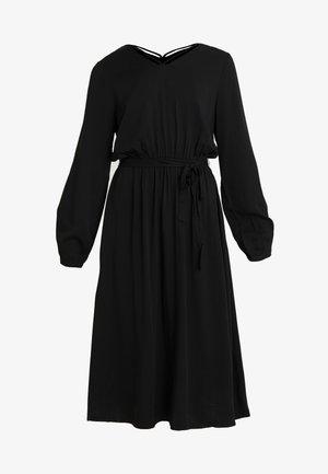 ONLFALMA STRING DRESS SOLID - Denní šaty - black