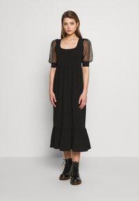 ONLY - ONLRINNA DRESS - Vestito di maglina - black - 0