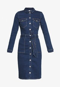 ONLY - ONLFLAKE BODYCON DRESS - Robe en jean - medium blue denim