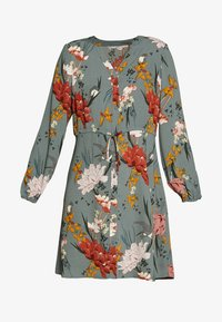 ONLY - ONLELEONORA DRESS - Kjole - balsam green/flower - 4