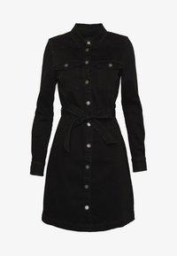 ONLY - ONLFEISTY BELT DRESS - Spijkerjurk - black denim - 3