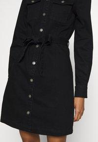 ONLY - ONLFEISTY BELT DRESS - Spijkerjurk - black denim - 4