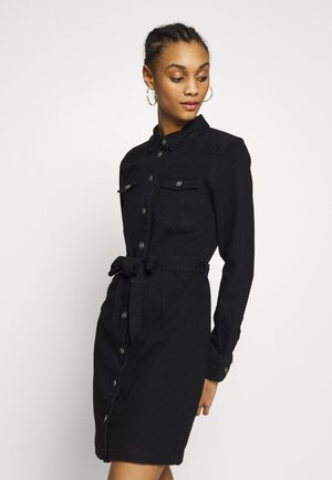 ONLFEISTY BELT DRESS - Vestido vaquero - black denim