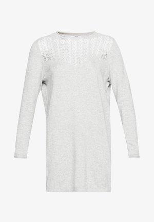 ONLEDEN DRESS  - Pletené šaty - light grey melange