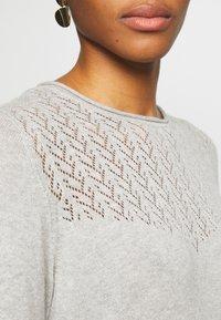 ONLY - ONLEDEN DRESS  - Jumper dress - light grey melange - 5