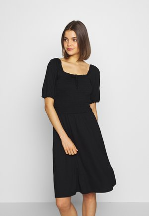 ONLSTING SMOCK DRESS  - Žerzejové šaty - black