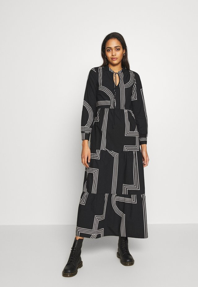 ONLMOIRA MAXI DRESS - Maxi dress - black/graphic