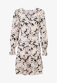 ONLY - ONLLILA  SHORT DRESS - Korte jurk - black/big flowers - 4