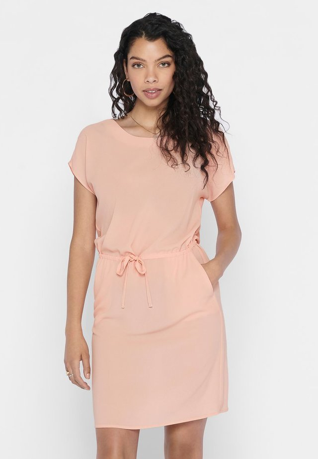 ONLNOVA LUX CONNIE BALI DRESS SOLID - Korte jurk - tropical peach