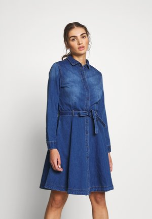 ONLLIVIA DRESS - Dongerikjole - medium blue denim