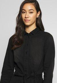 ONLY - ONLLIVIA DRESS - Denimové šaty - black - 4