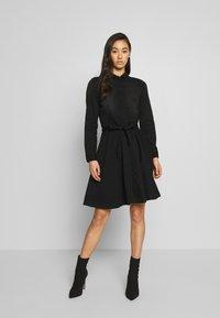 ONLY - ONLLIVIA DRESS - Denimové šaty - black - 0