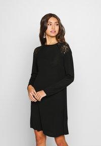 ONLY - ONLKARLA SKATER DRESS - Jumper dress - black - 0
