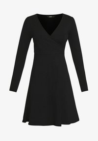 ONLY - ONLSALLY WRAP DRESS  - Jerseykjole - black - 4