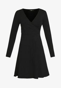 ONLY - ONLSALLY WRAP DRESS  - Trikoomekko - black - 4