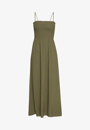 ONLNOVA LIFE SMOCK DRESS SOLID - Maxi dress - grape leaf