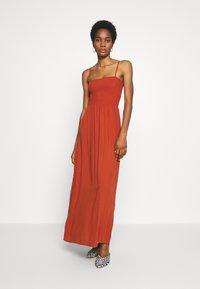 ONLY - ONLNOVA LIFE SMOCK DRESS SOLID - Maxi-jurk - arabian spice - 1