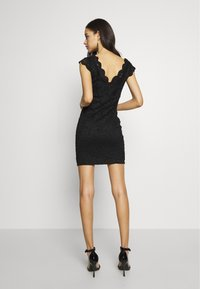 ONLY - ONLALBA VNECK DRESS - Cocktail dress / Party dress - black - 3