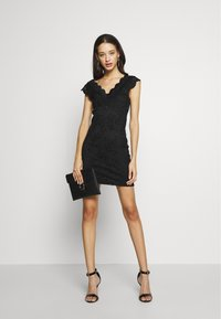 ONLY - ONLALBA VNECK DRESS - Cocktail dress / Party dress - black - 2