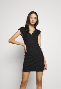 ONLY - ONLALBA VNECK DRESS - Cocktail dress / Party dress - black - 0